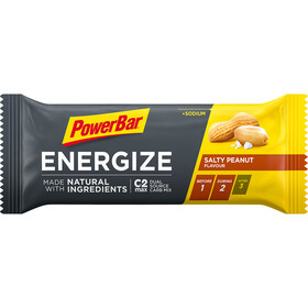 PowerBar Energize Made with Natural Ingredients Bar Box 25x55g Salty Peanut